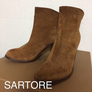 SARTORE サルトル未使用 スウェードショートブーツ