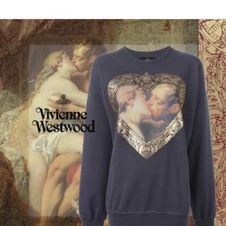 ヴィヴィアンウエストウッド(Vivienne Westwood)のキッシングハート額縁スウェットトレーナー(トレーナー/スウェット)