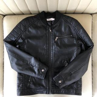 H&M★ノーカラーライダースジャケット★130