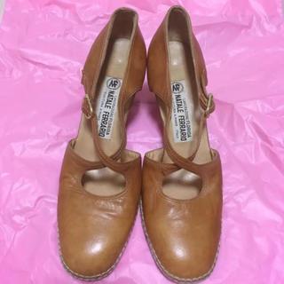 ロキエ(Lochie)のMade in ITALY vintage brown ヒールパンプス(ハイヒール/パンプス)