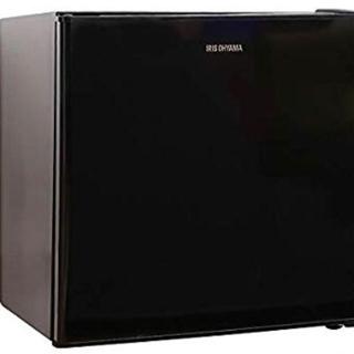 アイリスオーヤマ(アイリスオーヤマ)の[新品・未開封]アイリスオーヤマ 冷蔵庫 ブラック(冷蔵庫)