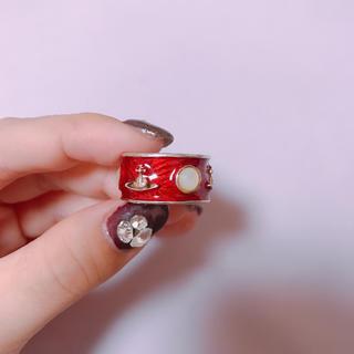 ヴィヴィアンウエストウッド(Vivienne Westwood)の美品【レア】キングリング 赤 レッド Sサイズ(リング(指輪))
