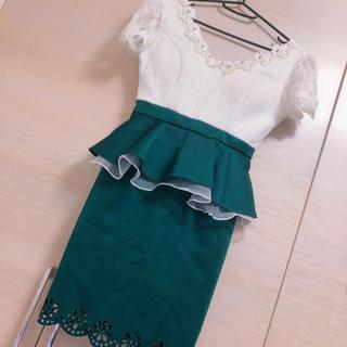 dazzy store - sobre♡レース切り替えミニドレス