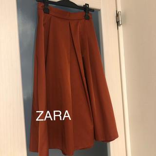 ザラ(ZARA)のZARA タフタスカート(ひざ丈スカート)