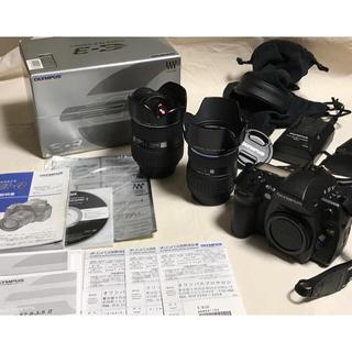 オリンパス(OLYMPUS)のオリンパス E-3 ボディー+交換レンズ2本 超美品 オリンパス プロサロン品(デジタル一眼)