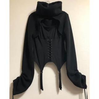 アリスアウアア(alice auaa)の新品 Na+H タートルネック ウール ボレロ BLACK(ニット/セーター)