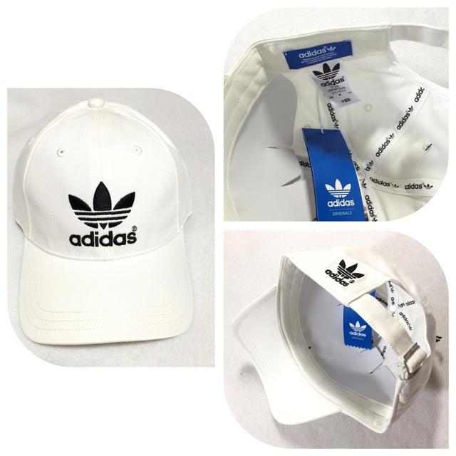 adidas(アディダス)のアディダス トレフォイル キャップ 白 メンズの帽子(キャップ)の商品写真