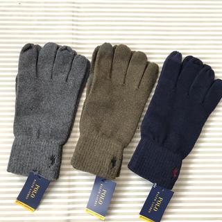 ラルフローレン(Ralph Lauren)のm様ラルフローレン  手袋  メンズ POLO フリー グレー(手袋)