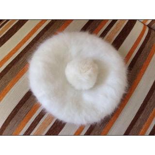 リズリサ(LIZ LISA)の♡ベレー帽♡ ♩白*アイボリー*ふわふわ*カジュアル系*ガーリー系*かわいい系♩(ハンチング/ベレー帽)