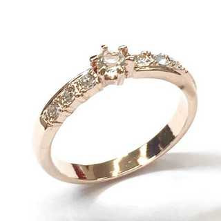 煌びやか☆クリスタルラインリング ピンクゴールド スワロフスキー社製クリスタル(リング(指輪))