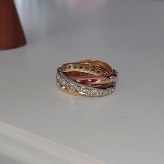 k18 3連リング ダイヤモンド 0.34ct スリーカラー(リング(指輪))