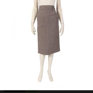 マディソンブルー(MADISONBLUE)の新品タグ付きマディソンブルーHIGH WAIST TIGHT SKIRT レッド(ひざ丈スカート)