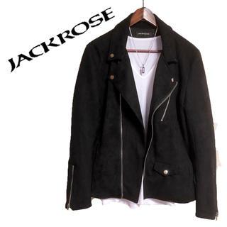 ジャックローズ(JACKROSE)のJACK ROSE ダブルライダースジャケット 黒 ライダースブルゾン  高級感(ライダースジャケット)