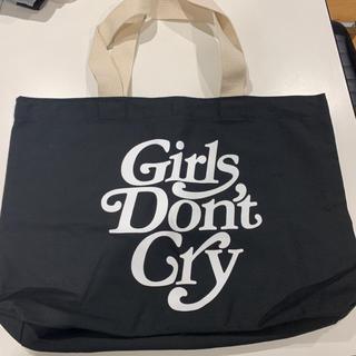 ジーディーシー(GDC)のGirls Don't Cry トート バッグ 黒 ガールズドントクライ(トートバッグ)