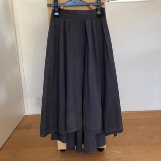 MADISONBLUE - マディソンブルー タックボリューム イレギュラーヘム ロング スカート01