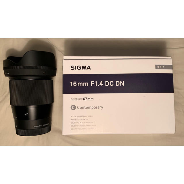 SIGMA(シグマ)のほぼ新品 シグマレンズ16mm F1.4 DC DNソニーEマウント sigma スマホ/家電/カメラのカメラ(レンズ(単焦点))の商品写真