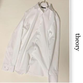 セオリー(theory)のTheory  総柄 長袖 ドレス シャツ 15.5R (M) ホワイト(シャツ)