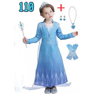 アナと雪の女王 - 【残り4点★新作】アナ雪2 エルサ風ドレス 【6点セット】