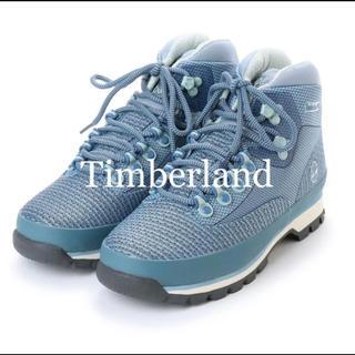 ティンバーランド(Timberland)の現行品 Timberland ユーロハイカー ジャカード (ブルー)(ブーツ)