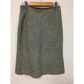 エフデ(ef-de)のエフデ スカート グレー ツイード 膝丈 G416(ひざ丈スカート)