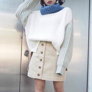 ムルーア(MURUA)のMURUA マーブルボタンミニスカート♡(ミニスカート)