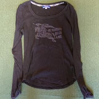 バーバリーブルーレーベル(BURBERRY BLUE LABEL)のバーバリーの 長袖 シャツ ブラック‼️(Tシャツ/カットソー(七分/長袖))