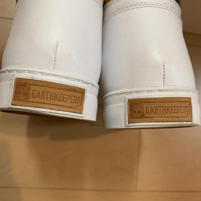 Timberland(ティンバーランド)のTimberland(ティンバーランド)白ハイカットスニーカー メンズの靴/シューズ(スニーカー)の商品写真