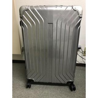 キャリーケースLサイズ使用品拡張機能付 シルバー(ヘアーライン柄)(旅行用品)