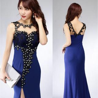 DressLine/レースデコレーションロングドレス(ロングドレス)