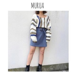 MURUA - MURUA バックリボンニット