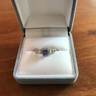 ハートシェイプのタンザナイト♡ダイヤモンドリング(リング(指輪))