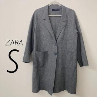 ザラ(ZARA)のZARA ニット コート チェスターコート S(チェスターコート)