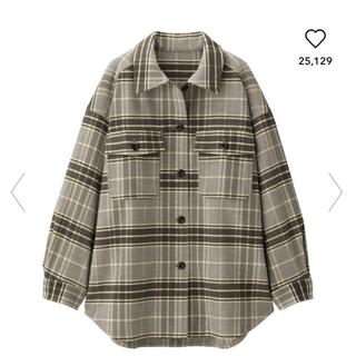 gu オーバーサイズ チェックシャツ(シャツ/ブラウス(長袖/七分))
