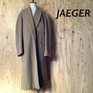 イエーガー(JAEGER)のイングランド製 JAEGER ウール ロング ガウン コート キャメル(ロングコート)