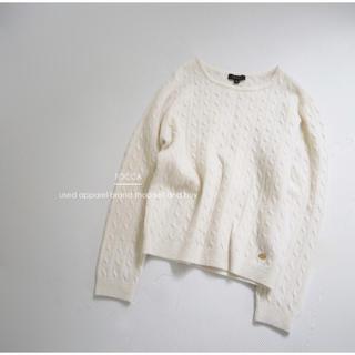 TOCCA - 【トッカ】カシミヤ混 ニット オフホワイト XS 美品