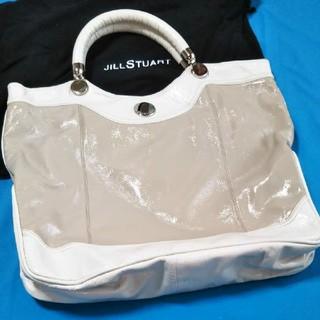 ジルスチュアート(JILLSTUART)のジルスチュアート重量感エナメル素敵なビックバック(トートバッグ)