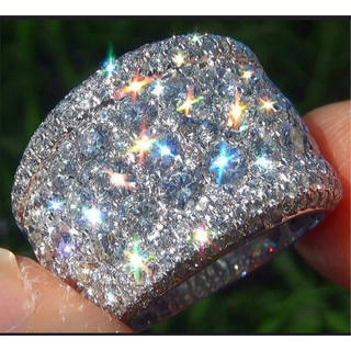 天然石ホワイトサファイア リング レディースファション指輪ジュエリーダイヤcz(リング(指輪))