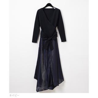 GRACE CONTINENTAL - グレースコンチネンタル イレギュラーヘムニット ドレス