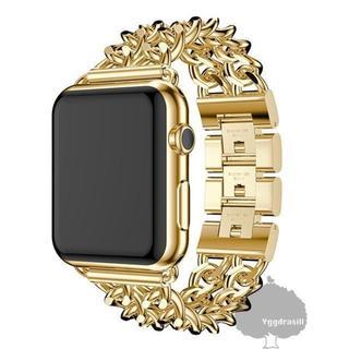 Apple watch 2チェーン バンド 42mm/44mm ゴールド 金