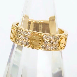 Cartier - 【保証書付/仕上済】カルティエ ラブリング YG ダイヤ 10号 リング 指輪