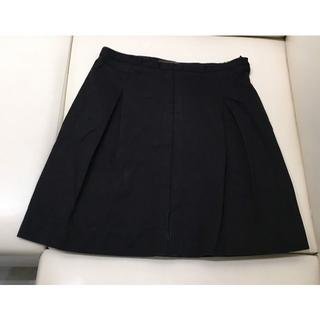 ルイヴィトン(LOUIS VUITTON)のLV 台形スカート 黒(93015745)(ひざ丈スカート)