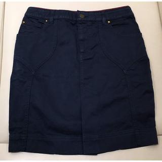 ルイヴィトン(LOUIS VUITTON)のLV 台形スカート 紺(93015746)(ひざ丈スカート)