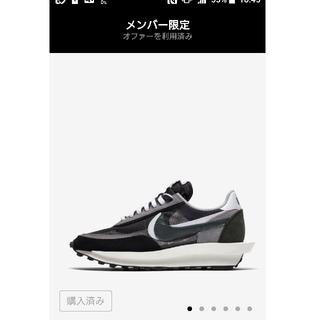 ナイキ(NIKE)のSacai Nike LD Waffle  Black 24.5(スニーカー)