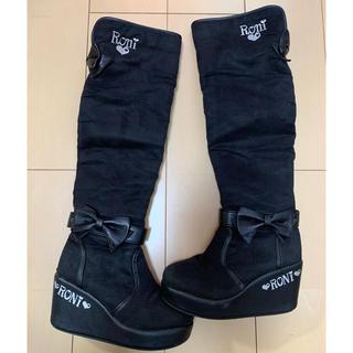ロニィ(RONI)のRONI  ニーハイ ブーツ 20㎝ ロングブーツ ブラック (ブーツ)
