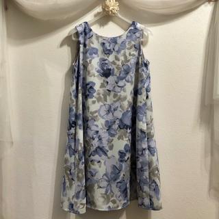MERCURYDUO - 【MERCURYDUO】ワンピース/Aライン/ふんわり/水色/花フラワー