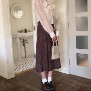 フーズフーチコ(who's who Chico)のmellow neon kirakira knit skirts (ロングスカート)