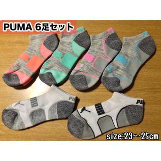 プーマ(PUMA)の新品⋆。˚✩PUMA レディース用靴下 【6足セット】23〜25cm ※残り2(ソックス)