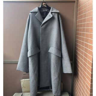 COMOLI - auralee face check soutien collar coat