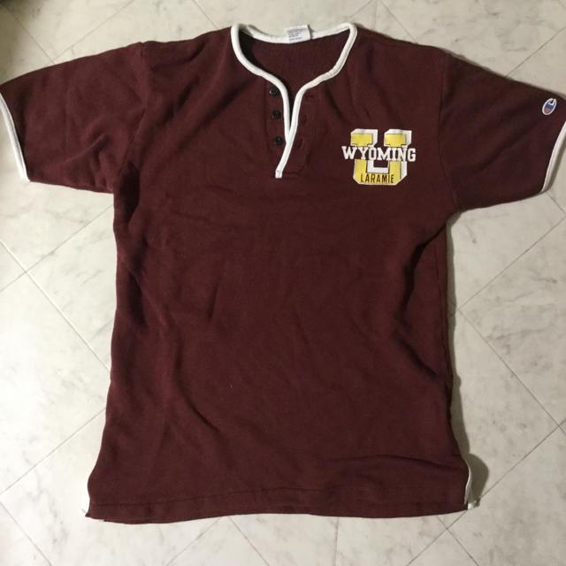 Champion(チャンピオン)のchampion 半袖  エンジ メンズのトップス(Tシャツ/カットソー(半袖/袖なし))の商品写真