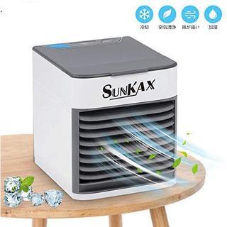 2019年最新バージョン SUNKAX ミニエアコンファン 扇風機 冷風機 (扇風機)